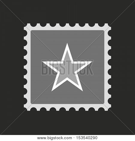 Isolated Mail Stamp Icon With  The Red Star Of Communism Icon
