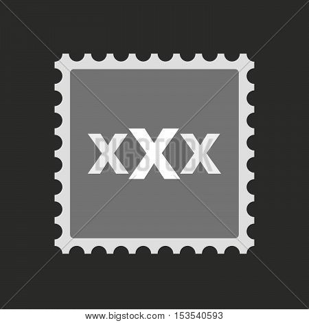 Isolated Mail Stamp Icon With  A Xxx Letter Icon