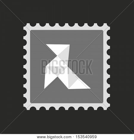 Isolated Mail Stamp Icon With  A Paper Bird