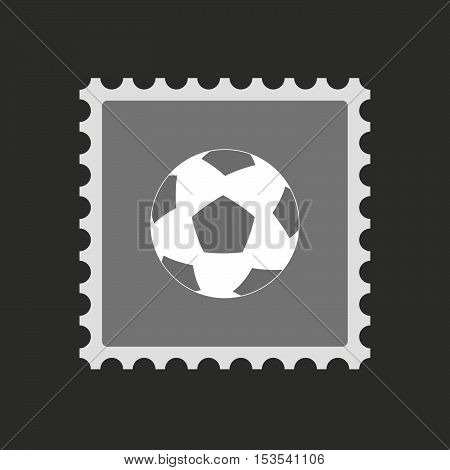 Isolated Mail Stamp Icon With  A Soccer Ball