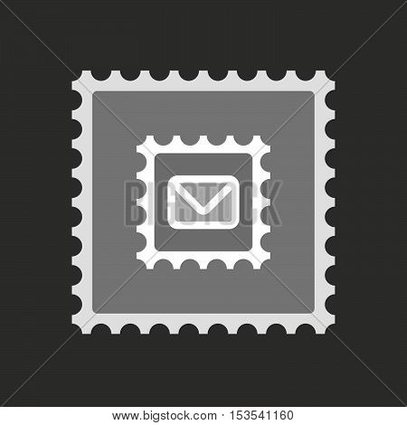 Isolated Mail Stamp Icon With  A Mail Stamp Sign