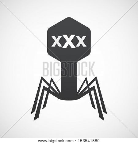 Isolated Virus Icon With  A Xxx Letter Icon