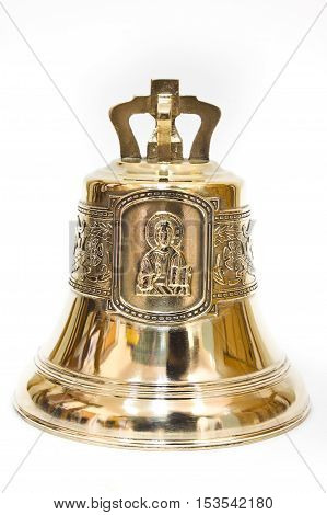 Bronze bell with the image of St. Nicholas