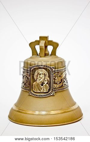 Bronze bell with the image of the Mother of God the Virgin Mary