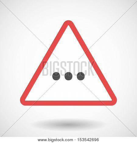 Isolated Warning Sign Icon With  An Ellipsis Orthographic Sign