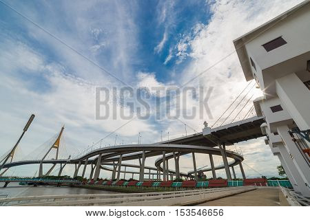 Highway Bridge And River