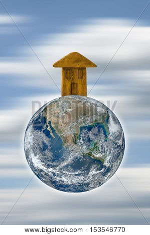 The Earth is our home - including elements furnished by NASA