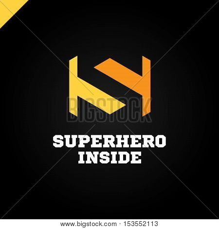 Negative Space Letter S Superhero Inside Logo Icon Design Template Elements Colorful Style