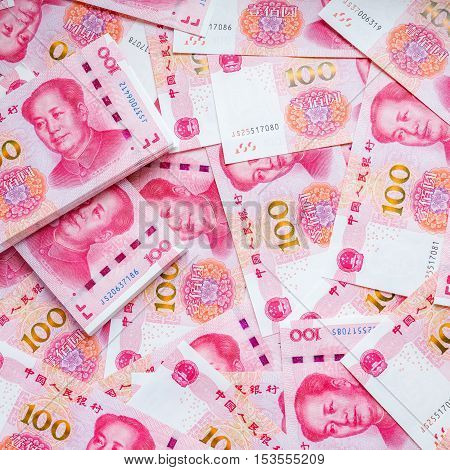 China money one hundred bank note background.