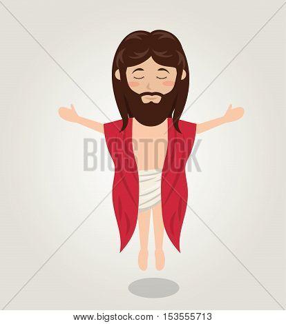 Jesus christ ascension design isolated vector illustration eps 10