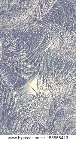 Abtract intricate pale pattern - digitally generated image. Fractal geometry: twisted curls and curves woven into a beautiful network. Background or texture for web design, banners, cards.