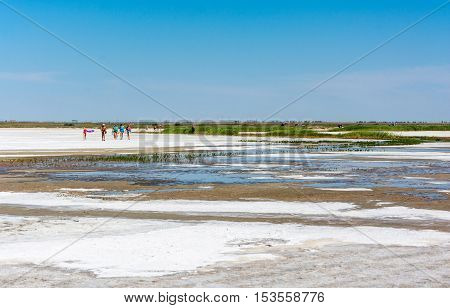 Lake Elton, Volgograd Region, Russia.