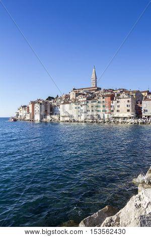 Rovinj beautiful old town in Istria of Croatia Europe