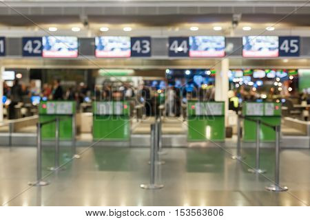 reception of documents at the airport. Background, passport check, and submission of Luggage.