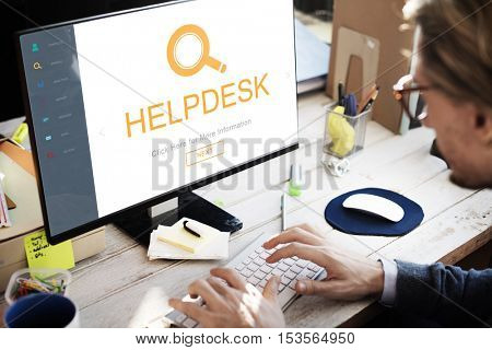 Customer Service Helpdesk Information Discover Concept