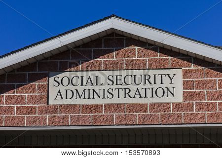 Anderson - Circa October 2016: Local Branch of the Social Security Administration. The SSA administers retirement disability and survivors benefits II