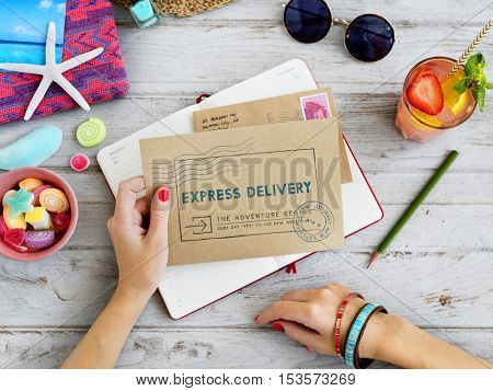 Airmail Express Delivery Letter Concept