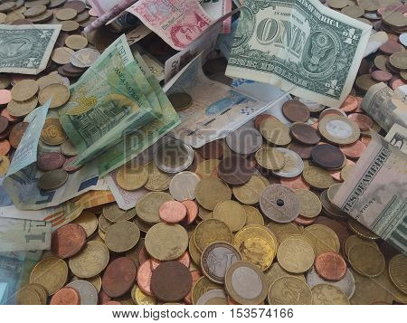 Mixed Currency From Different Countries