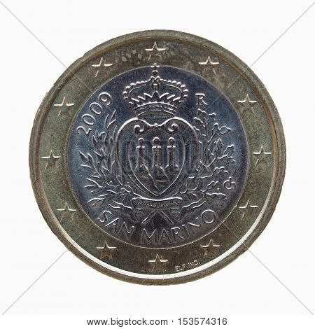 One Euro (eur) Coin From San Marino