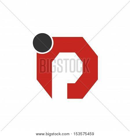 Ip letter initial logo design, Ip initial logo