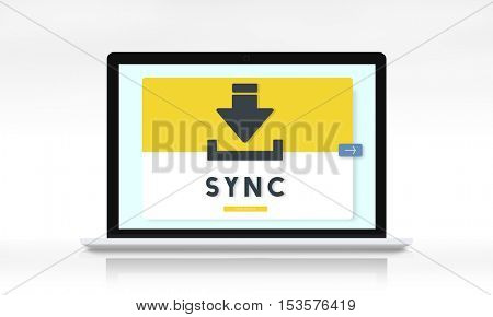 Data Backup Storage SYNC Digital Server Internet Concept