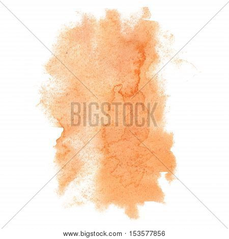 abstract watercolor orange splash. watercolor drop isolated blot for your design