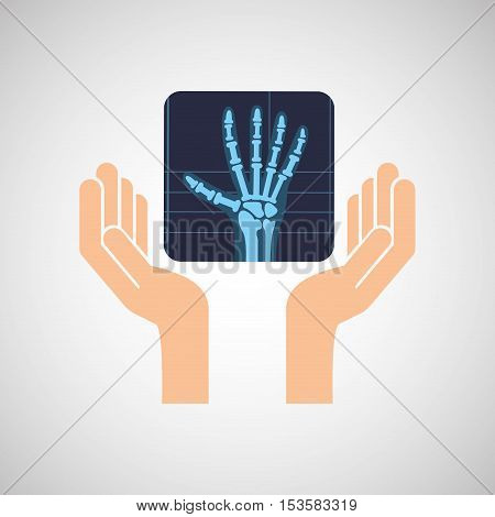 hands x-ray hand medicine icon vector illustration eps 10