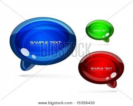 Speech bubbles icon set. Eps10 vector