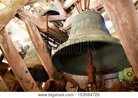 Saint Martin de Re France - september 25 2016 : the bells of Saint Martin church