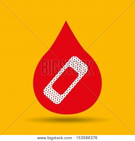 hands care health first aid cure band icon vector illustration