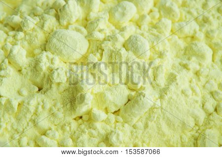 close up of sulfur powder texture and background
