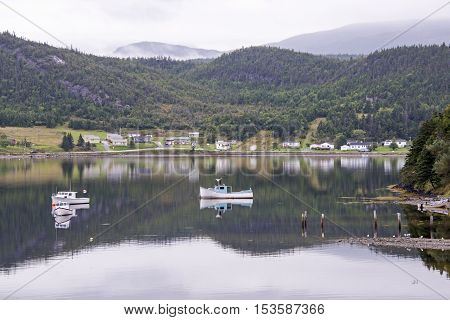 Fishing hamlet Norris Point on the Bonne Bay in Newfoundland Canada