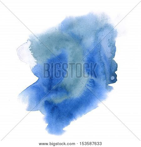 abstract watercolor splash. blue watercolor drop isolated blot for your design