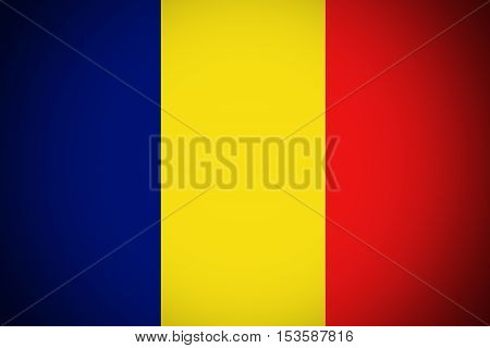 Chad flag, Chad national flag illustration symbol.