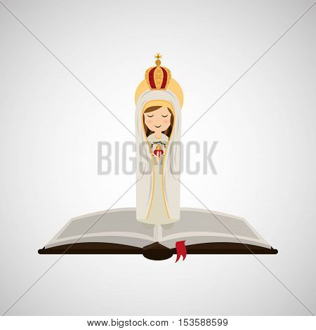 religion catolic virgin mary immaculate haert bible design vector illustration