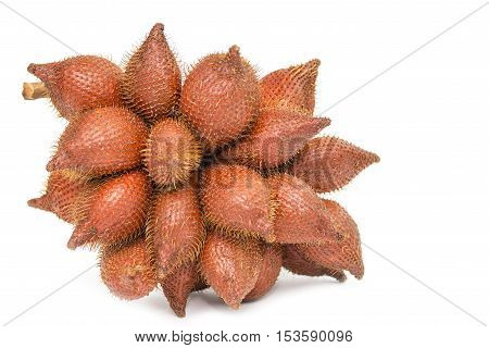 Salacca Or Zalacca Tropical Fruit Isolated On White Background