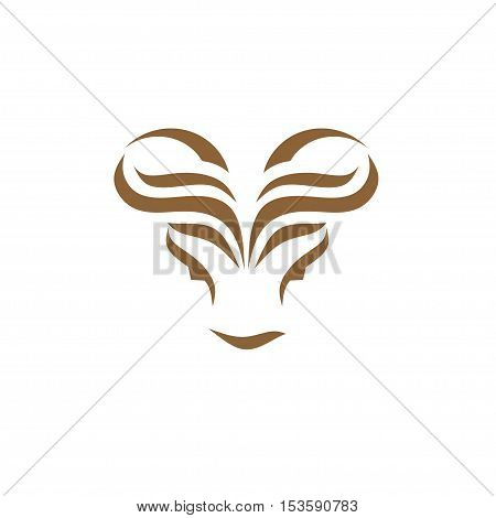 modern bull head creative abstract logo concept