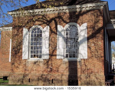 Tree Shadows At Williamsburg Enh