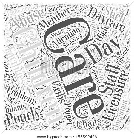Why Is Day Care Licensure Important word cloud concept poster