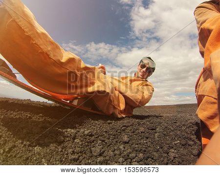 Man Sand Boarder