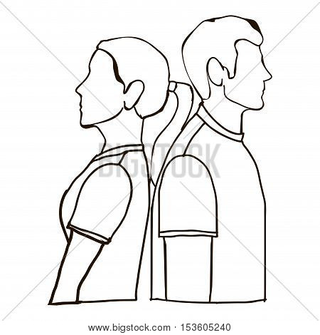 couple arguing man and woman icon image vector illustration design