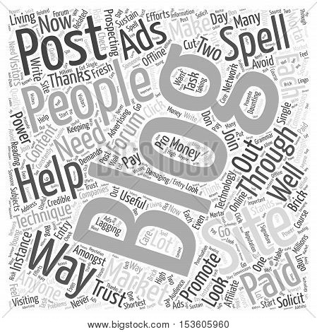 what forum posting techniques that can help you promote your blog word cloud concept