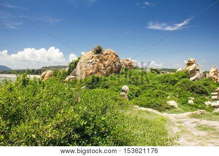 picturesque view of Ke Ga, Binh Thuan Province, Vietnam