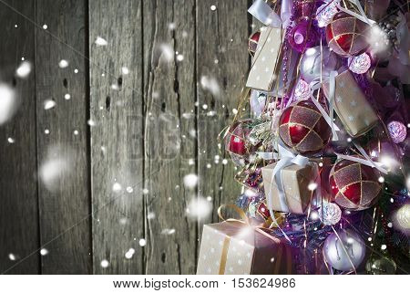 Christmas Tree Decorated With Toys