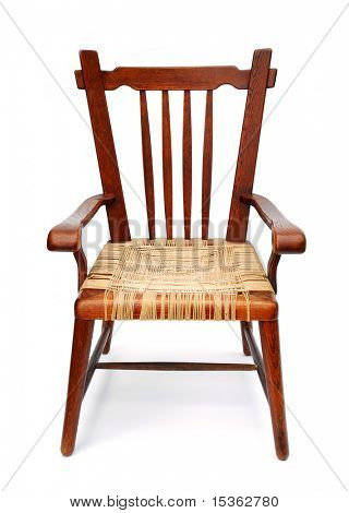 Chair, designed in late 1930s, on white background