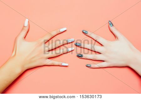 Fashionable Female Hands With Manicure