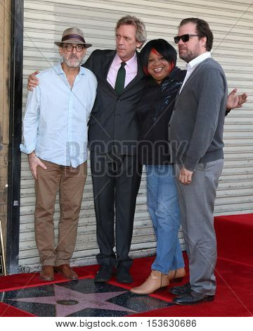 LOS ANGELES - OCT 25:  Hugh Laurie and The Copper Bottom Band at the Hugh LaurieHollywood Walk of Fame Star Ceremony at the Hollywood Blvd. on October 25, 2016 in Los Angeles, CA