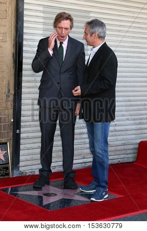LOS ANGELES - OCT 25:  Hugh Laurie, David Shore at the Hugh LaurieHollywood Walk of Fame Star Ceremony at the Hollywood Blvd. on October 25, 2016 in Los Angeles, CA