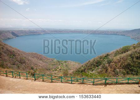 apoyo lagoon from Nicaragua. Laguna de Apoyo