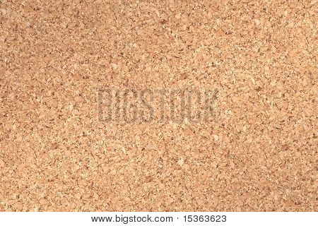 Cork board background for push pins and memos etc